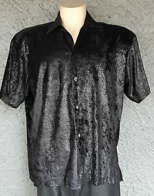 Snake skin look-a-like polyester shirt, 1980's, by 'Black Flys', size L -XL