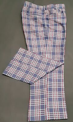 """Checked flares 1960's, USA by 'Wright', size XL, 38"""""""
