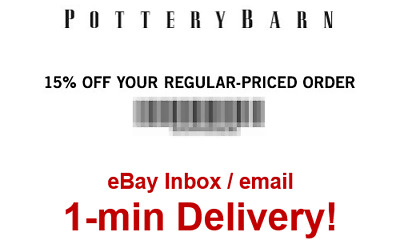 Pottery Barn 15% off your regular-priced order Online/Instore-sent in 1 min!