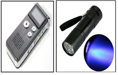 Digital Ghost Evp Recorder + Uv Flashlight Torch Spirit Paranormal Equipment