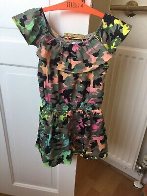 Girls River Island Playsuit All In One shorts 5-6years Bardot