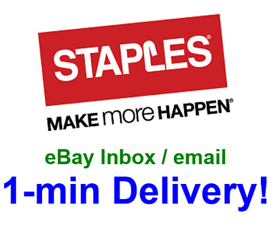 Staples $15 off $50 online.1coupon-not 10 25 30 60 75-sent in 1 min!