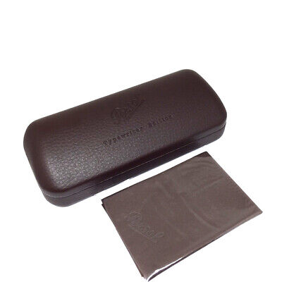 Persol 'Typewriter Edition' Eyeglasses or Sunglasses Case Dark Brown and Cloth