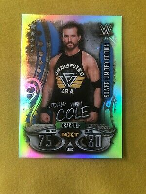 WWE Rare Silver Slam Attax Adam Cole Limited Edition NXT
