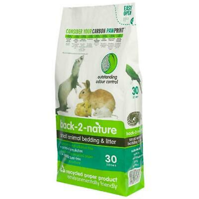 Back 2 Nature Small Animal Paper Bedding & Litter - 30L