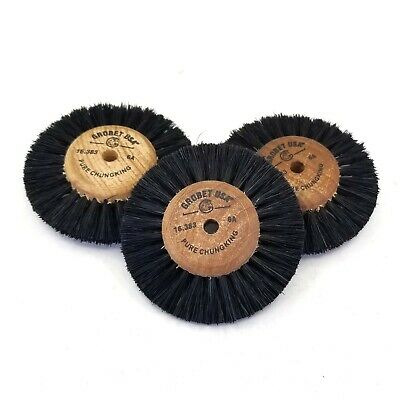 Brush Wheels With Wooden Hub Center 6A - 2 1/2 inches - 3 Pack