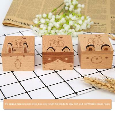 Cartoon Animal Exquisite Wooden Hand Cranked Storage Music Box Home Crafts Gifts