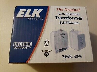 Elk TRG2440 24VAC, 40 VA AC Transformer with PTC Fuse - New!