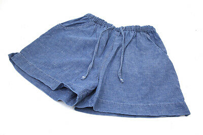 VINTAGE CHILDS BLUE DEMIN  COTTON  SHORTS  AGE  6  YEARS vgc