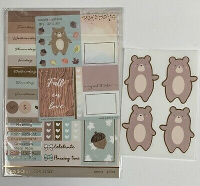 Simply Gilded Cozy & Crisp Sticker Sheets