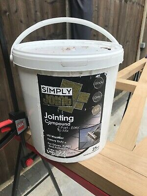 SIMPLY JOINT SWEEP IN PAVING JOINTING COMPOUND GROUT JET BLACK 25kg