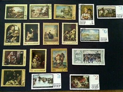 VINTAGE RUSSIA USSR Stamp Collection Lot Cccp Mockba Noyta
