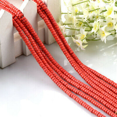1pcs 2x4mm Red Coral Loose Bead Accessories Jewelry Strand Round DIY Handmade