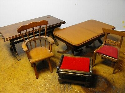 Mixed Lot Mid-century Vintage Dining Room Tables and Chairs Made in Japan