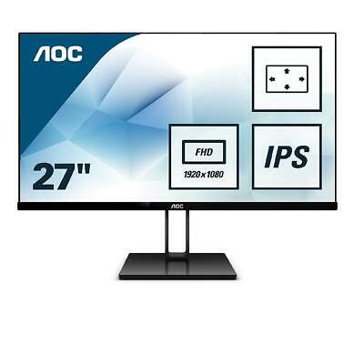 "AOC 27V2Q 27"" FHD LED LCD 75Hz FreeSync Gaming Monitor Speaker Full HD Thin IPS"
