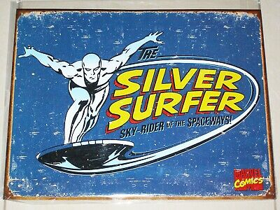 THE SILVER SURFER - Marvel Comics - Novelty Tin Metal Sign 40.5cm X 31.5cm NEW