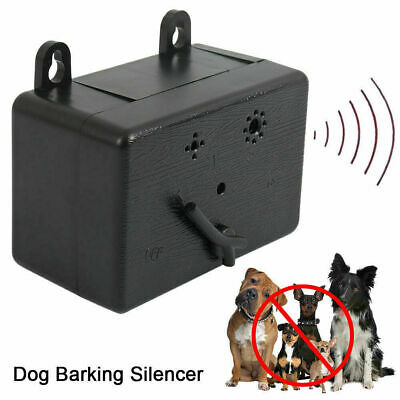 USA Outdoor Ultrasonic Anti-Barking Device Dog Bark Control Sonic Silencer Tool