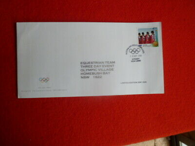2000 Olympics Gold Medal Stamp First Day Cover Ltd Edition Equestrian Team 3 Day