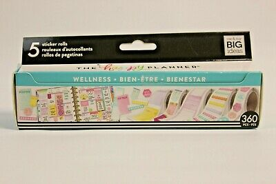 The Happy Planner Sticker Roll - Wellness 5 Sticker Rolls by Me and My Big Ideas