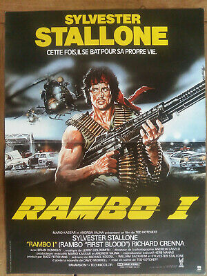 "Affiche RAMBO I ""First blood""  Sylvester STALLONE Ted KOTCHEFF 40x60cm"