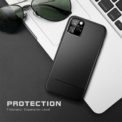 Carbon Fiber Soft Silicone Case Cover For iPhone 11 Pro Max XS XR X 8 7 6 Plus