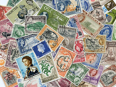 150 Different QE2 QEII British Commonwealth Stamps 1953-1970 issues only   A/86