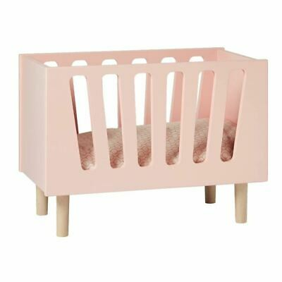 Doll's Bed/Doll's Cot/Wooden Baby Doll Bed/Doll Crib/Pretend Play/Scandi/Pink
