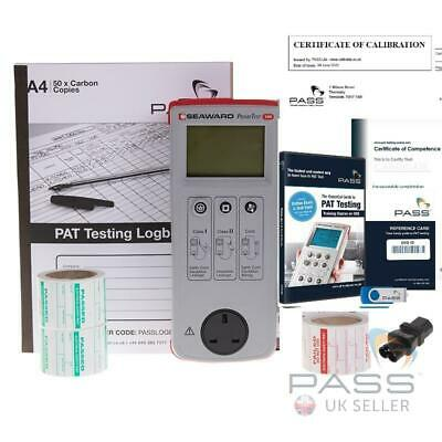 NEW Seaward Primetest 100 PAT Tester Kit incl Labels, Logbook & PAT DVD