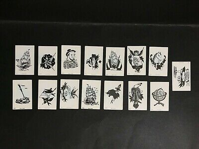 Dandy Pirate Tattoo Vintage Lot Of 15