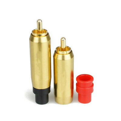 2pcs Gold Plated brass RCA plug-in Locking connector adapter Select