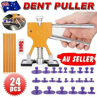 Car PDR Paintless Dent Puller Lifter Hammer Hail Remove Glue Tab Repair Tool Kit