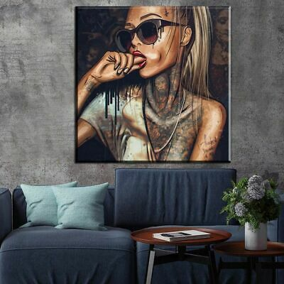 New Sexy Bad Girl Canvas Painting Wall Picture Home Decoration Graffiti Poster