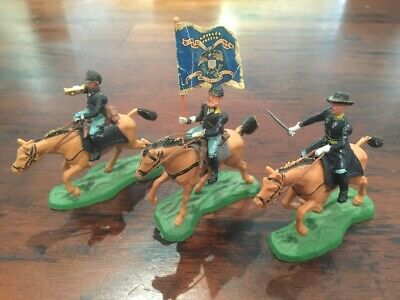Britains ACW Swoppets - 3 x Union Mounted - 1960s