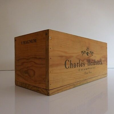 Cash Magnum Case Champagne Charles Heidsieck Reims Handmade 20th Pn France