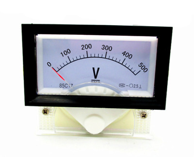 1pcs New DC 0-500V Analog Dial Panel Meter Voltmeter Gauge Voltage Meter 70*60