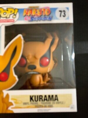 Funko Pop Animation Naruto Shippuden Flocked Kurama #73 Hot Topic Exclusive