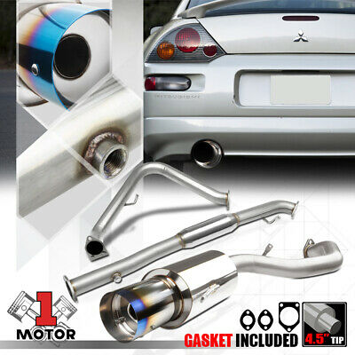 "4.5/""BURNT TIP STAINLESS STEEL EXHAUST CATBACK SYSTEM FOR 00-05 MIT ECLIPSE L4"