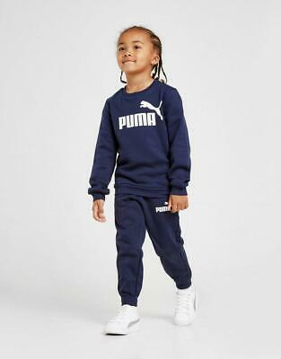 New Puma Kids' Logo Crew Suit Children