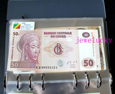 51 Countries World Banknotes Uncirculated Collections Flags With Album Book