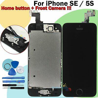Digitizer Display Black For iPhone SE 5S LCD Touch Screen Assembly + Home Button