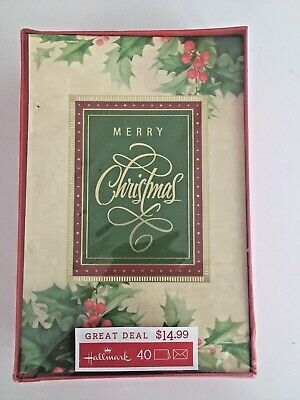Hallmark Boxed Christmas Greeting Cards.  40 count.  NEW