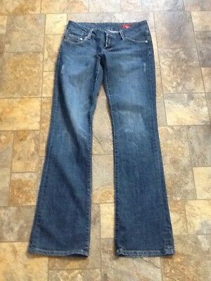 "Seven 7 Bootcut Womens Low Rise Jeans Size 25 30"" Waist 32 Inseam"