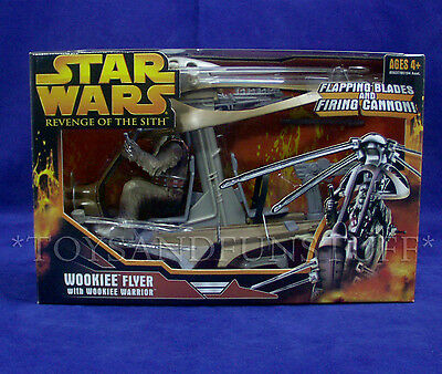 NEW - Star Wars WOOKIEE FLYER with Warrior Figure - ROTS Revenge Sith 2005