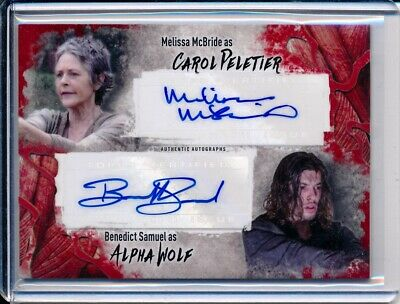 2016 Topps The Walking Dead Survival Box Melissa McBride Benedict Samuel /99