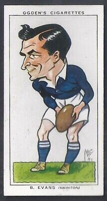 Ogdens-Football Caricatures-#38- Rugby League - Swinton - Evans
