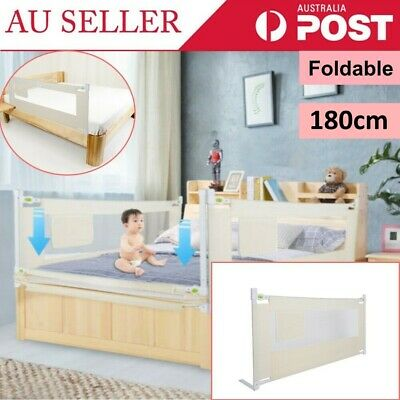 Greensen Portable Foldable Bed Rail White for Children 180*68cm AU