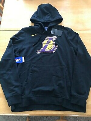 new style ccafe 26184 NIKE LOS ANGELES Lakers Hoodie Sweater Pullover Fleece 913051-010 (Women's  XL)