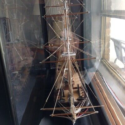 Antique model  1900s wooden  ship