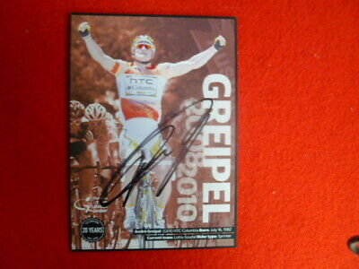 Tour Down Under 20Th Anniv Winners Postcard Signed Andre Greipel Cycling