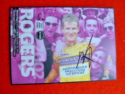 Tour Down Under 20Th Anniv Winners Postcard Signed Michael Rogers Cycling